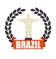 christ corcovado brazil icon vector image vector image