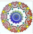 Circular Native Fairy Pattern Ornament vector image vector image