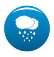 cloud rain icon blue vector image