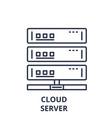 cloud server line icon concept cloud server vector image vector image