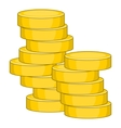 Coins icon cartoon style vector image