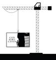 crane steel construction black vector image vector image
