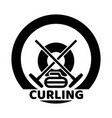 curling sport logo vector image vector image