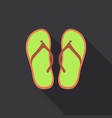 cute and colorful summer flip flops for beach vector image vector image
