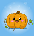 cute halloween pumpkin with splash vector image vector image
