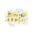 Design concept epidemic of virus zika in Brazil vector image vector image