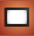 empty billboard lightbox mockup isolated wall vector image