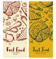 fast food vintage vertical flyers vector image vector image