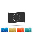 flag of european union icon on white background vector image