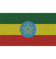 Flags Ethiopia on denim texture vector image vector image