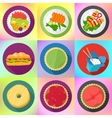 food flat style pictograms collection vector image