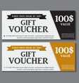 Gift Voucher Template with Sample Text vector image