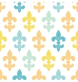 God and blue lily seamless pattern background vector image vector image