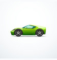 green cartoon sport car side view vector image vector image