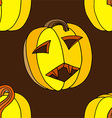 Halloween Pumpkin Pattern Set vector image