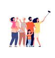 happy family selfie cheerful people portrait vector image vector image