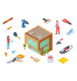 hardware store concept construction supplies vector image vector image