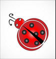 ladybug cartoon icon vector image