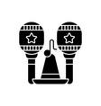 latin music black glyph icon vector image vector image