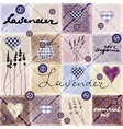 Lavender retro background vector image vector image
