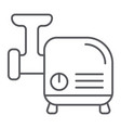 meat grinder thin line icon kitchen and utensil vector image vector image