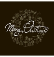 Merry Christmas Winter Holiday greeting card with vector image vector image