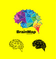 modern colorful brain logo designprint vector image