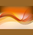 orange background with wave vector image vector image