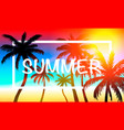 palms summer cover frame banner vector image vector image