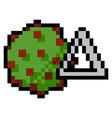 pixel coronavirus delta variant particle vector image vector image
