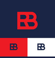 red b and r monogram logo concept vector image