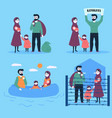 refugee family with child and small baby vector image