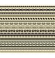 retro 17 lines set vector image vector image