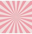 Retro pink rays vector image vector image
