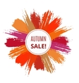 Sale Banner from Brush Strokes vector image