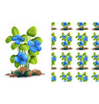 seamless background design with blue flowers and vector image