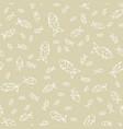 seamless monochrome fish pattern vector image