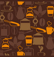seamless pattern with coffee icons food vector image