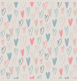seamless pattern with hand drawn hearts in vector image vector image