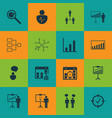 set of 16 board icons includes report vector image vector image