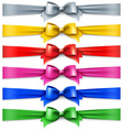 Set of multicolored shiny ribbons vector image vector image