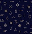 ship sea line icons seamless pattern vector image