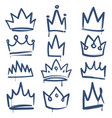 sketch crown queen king crowns tiara luxury royal vector image vector image