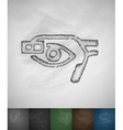 smart glasses eye icon vector image