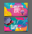 summer layout template design holiday vacation vector image