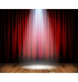Theater stage with wooden floor vector image
