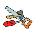 tools hand drawn image vector image