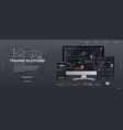 trade platform ui design vector image vector image