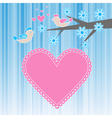 two birds in love vector image vector image