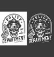 vintage policeman emblem concept vector image